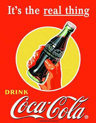 D1053~Coke-Real-Thing-Bottle-In-Hand-Posters