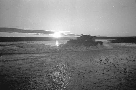 Soviet Tanks Cross Khalkhin Gol River 1939