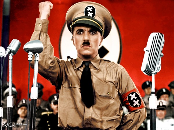 Charlie Chaplain in The Great Dictator