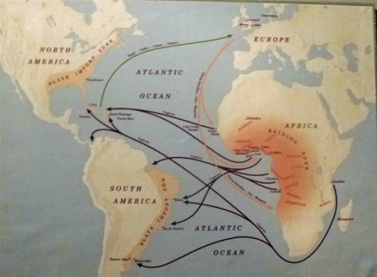 Slave Trade Map