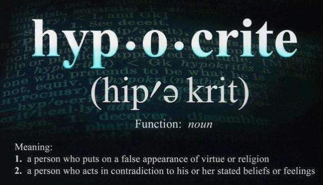 Being Hypocrites