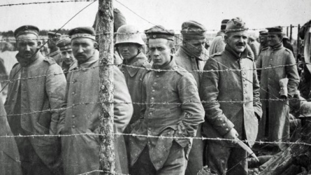 German POWs in French Prison Camp