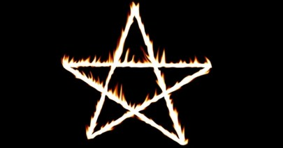 fiery pentagram
