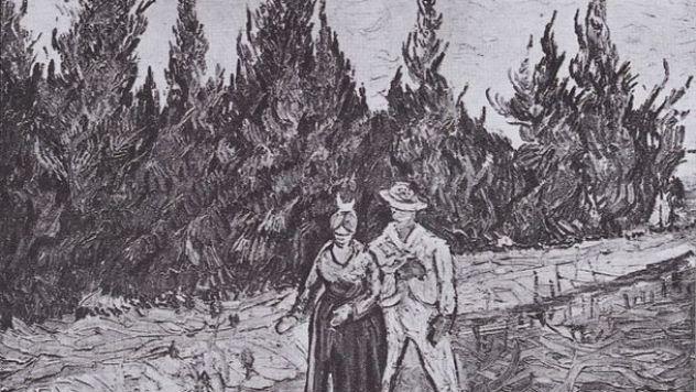 609px-Van_Gogh_-_Zypressenweg_mit_Liebespaar_-_Der_Garten_des_Dichters_IV