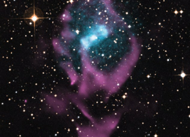A neutron star and normal star binary pair about 26,000 light years away in the Milky Way galaxy.