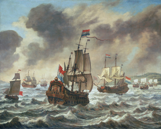Before the Battle of the Downs, 21 October 1639, Showing Tromp's Flagship 'Amelia'