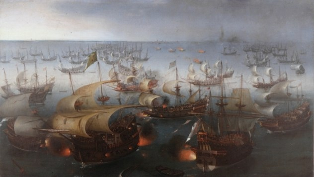 Vroom_Hendrick_Cornelisz_Battle_between_England_and_Spain_1601