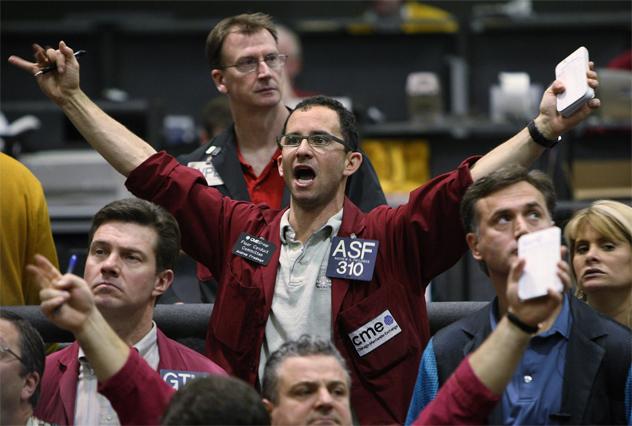 Traders On Chicago Mercantile Exchange React To Global Market Slide