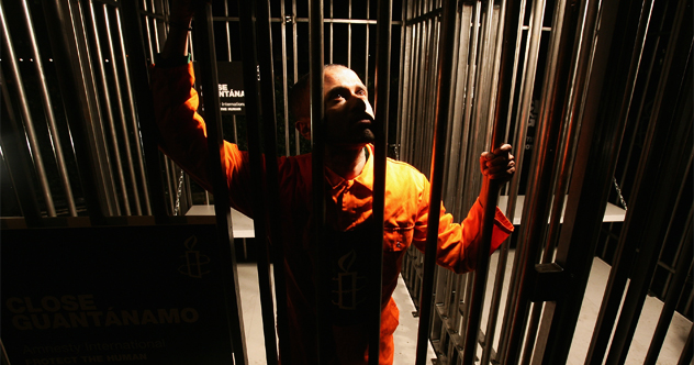 Amnesty Recreates Guantanamo On Sixth Anniversary