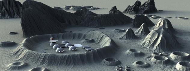 Moon base background