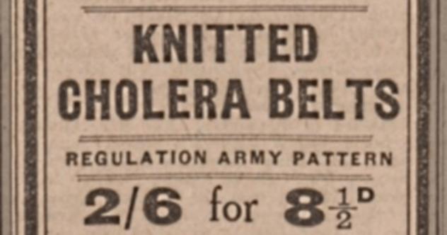Cholera Belt Advertisement