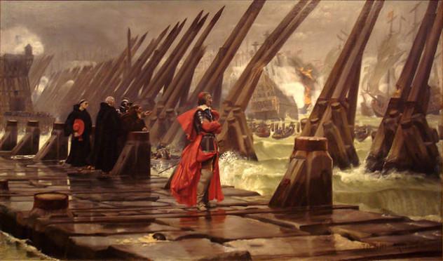 Siege_of_La_Rochelle_1881_Henri_Motte_1846_1922