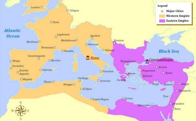 2-roman-empire-western-eastern-map