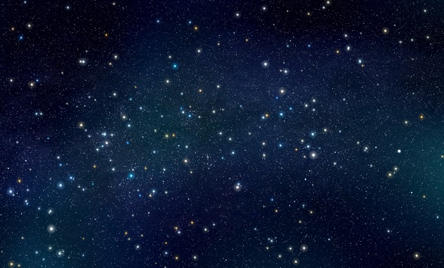 Stars with nebula background