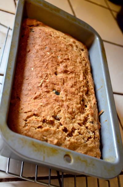 baked bread loaf finished baking