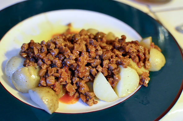 Wholesome Cuisine Sloppy Joe's over potatoes