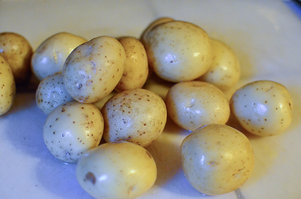 small golden potatoes