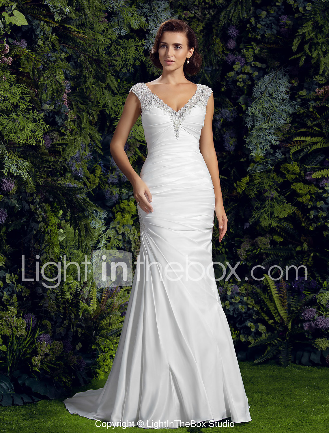 trumpet mermaid wedding dresses wedding dress mermaid LAN TING BRIDE Trumpet Mermaid Wedding Dress Chic Modern See Through Court