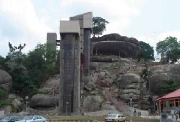 Olumo Rock as a tourist place was modernized by Governor Gbenga Daniel. Source: Olumo Progressive Association of Canada