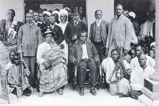 Great men of Lagos History represented here at the opening of Shitta-Bey Mosque 1894