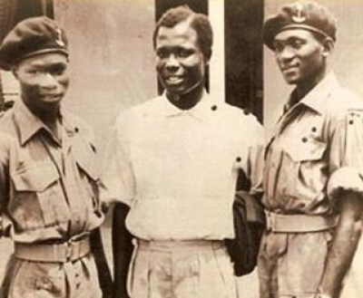 Obasanjo as a young army cadet.