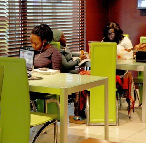 First coworking space to open in Nigeria, LitCaf, themed after books and coffee, was opened in March, 2013. Photo: LitCaf