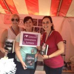 Authors Amy Bartol, Georgia Cates, and Heather Self (left to right) in Decatur, GA at the Decatur Book Festival 9/01/12