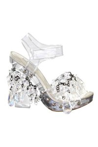 chandelier shoes by prada