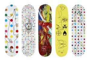 damien hirst supreme skateboard