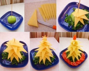 alternative christmas tree cheese