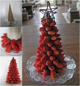 alternative christmas tree strawberries
