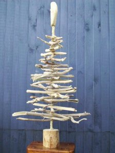 alternative christmas tree wood