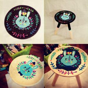 bunny stools aitch