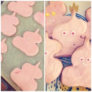 pink poop cookies