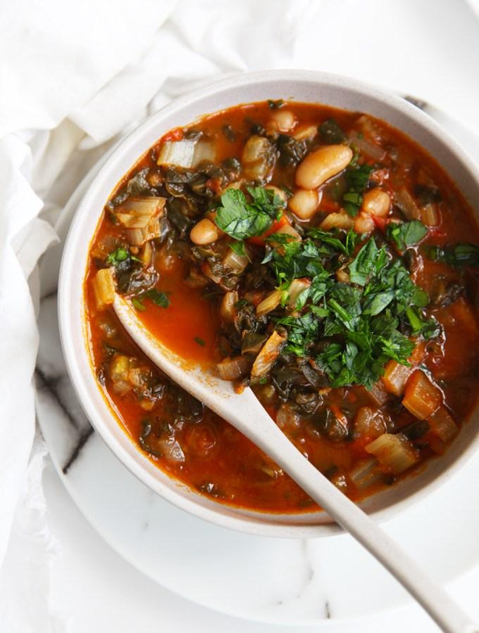 Tuscan Ribollita – veggie, bean & bread soup