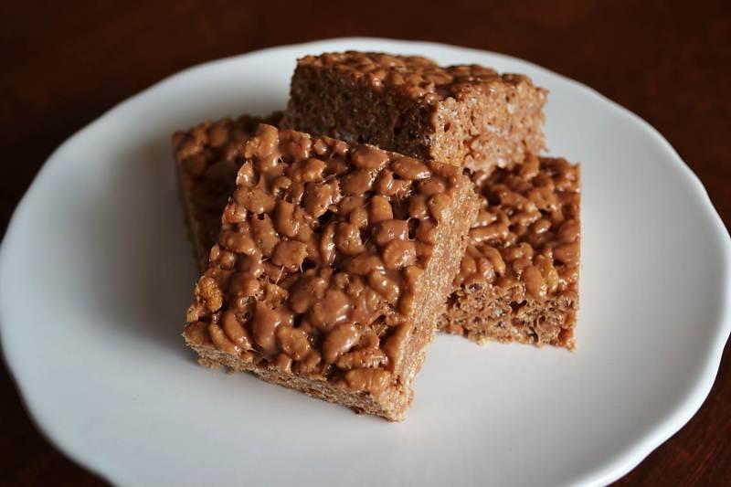 Large Of Peanut Butter Rice Krispie Bars