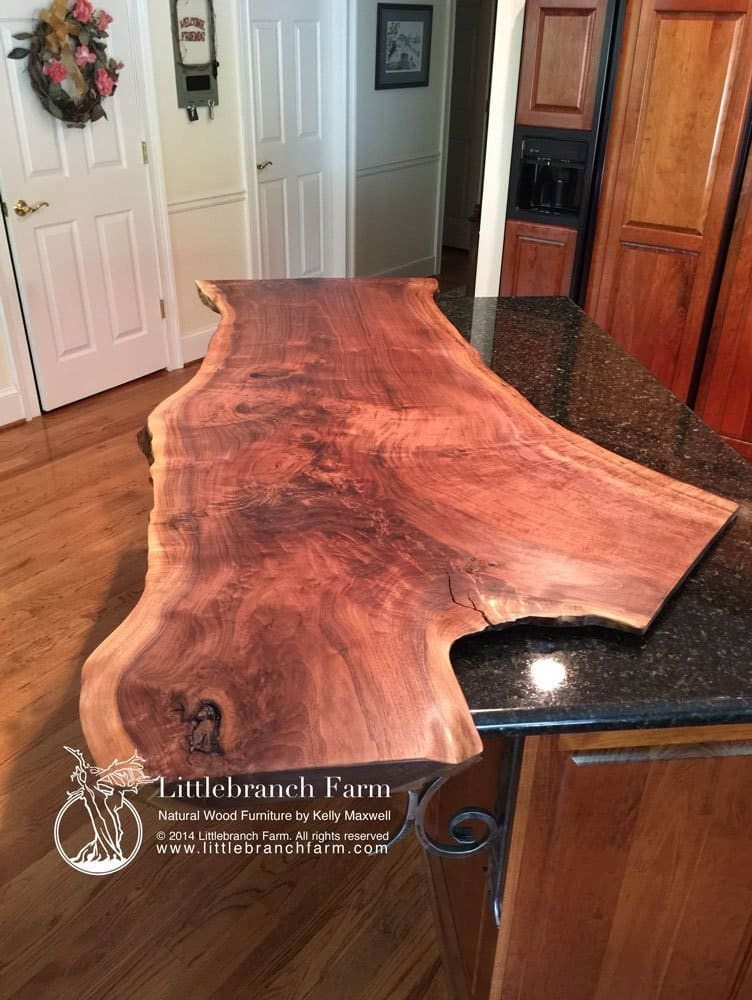 Natural wood countertops littlebranch farm for Wood slab countertops