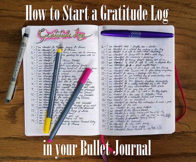 How to start a Gratitude Log in the Bullet Journal