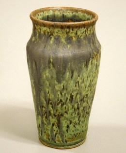 weathered bronze vase