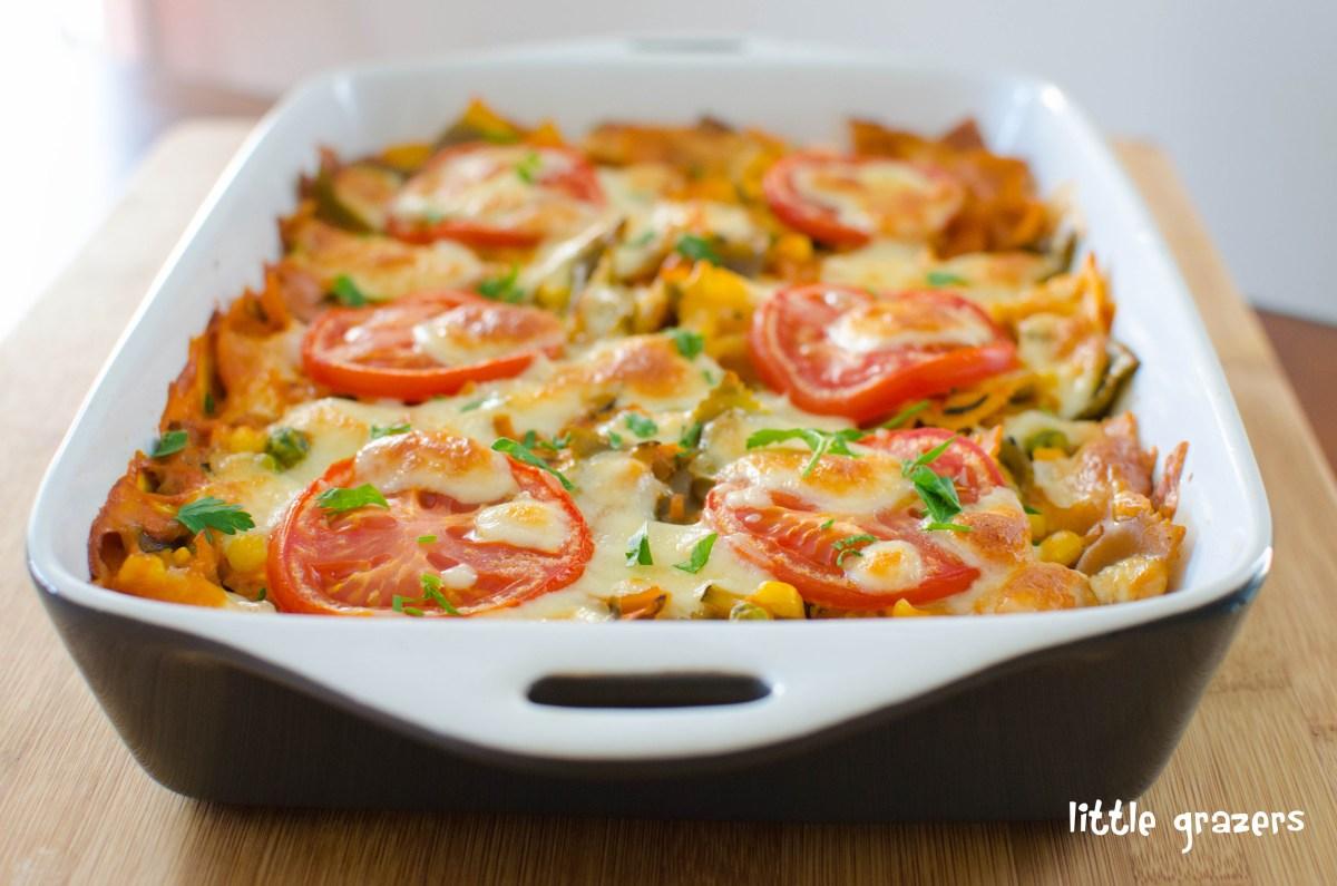 Creamy Vegetable Pasta Bake | Little Grazers