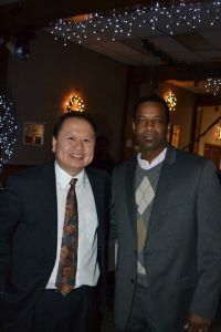 Mychal Mitchell with MN State Senator Foung Hawj, together supporting the Lao Hmong Veterans Memorial Project
