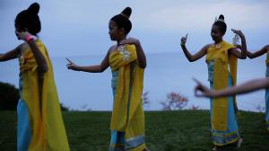 A dance scene from Princess of Laos.