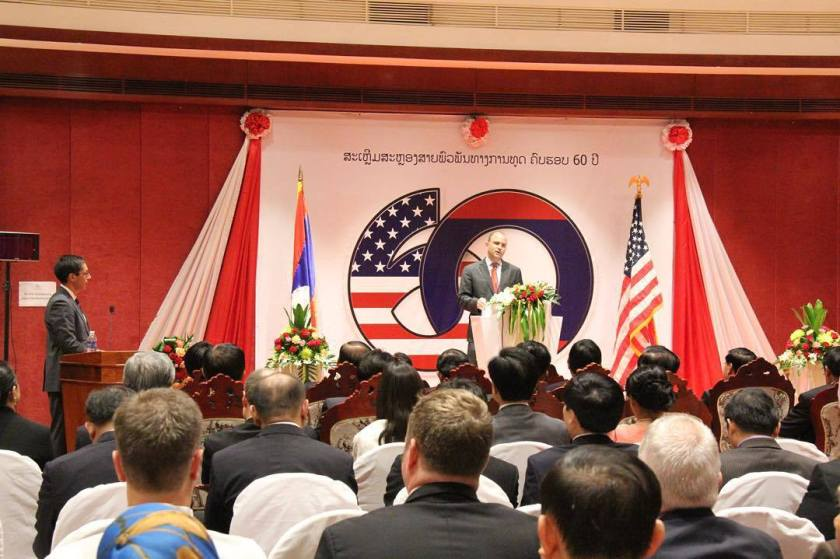 Ben Rhodes speaks at the anniversary of US-Laos diplomatic relations (Photo: White House)