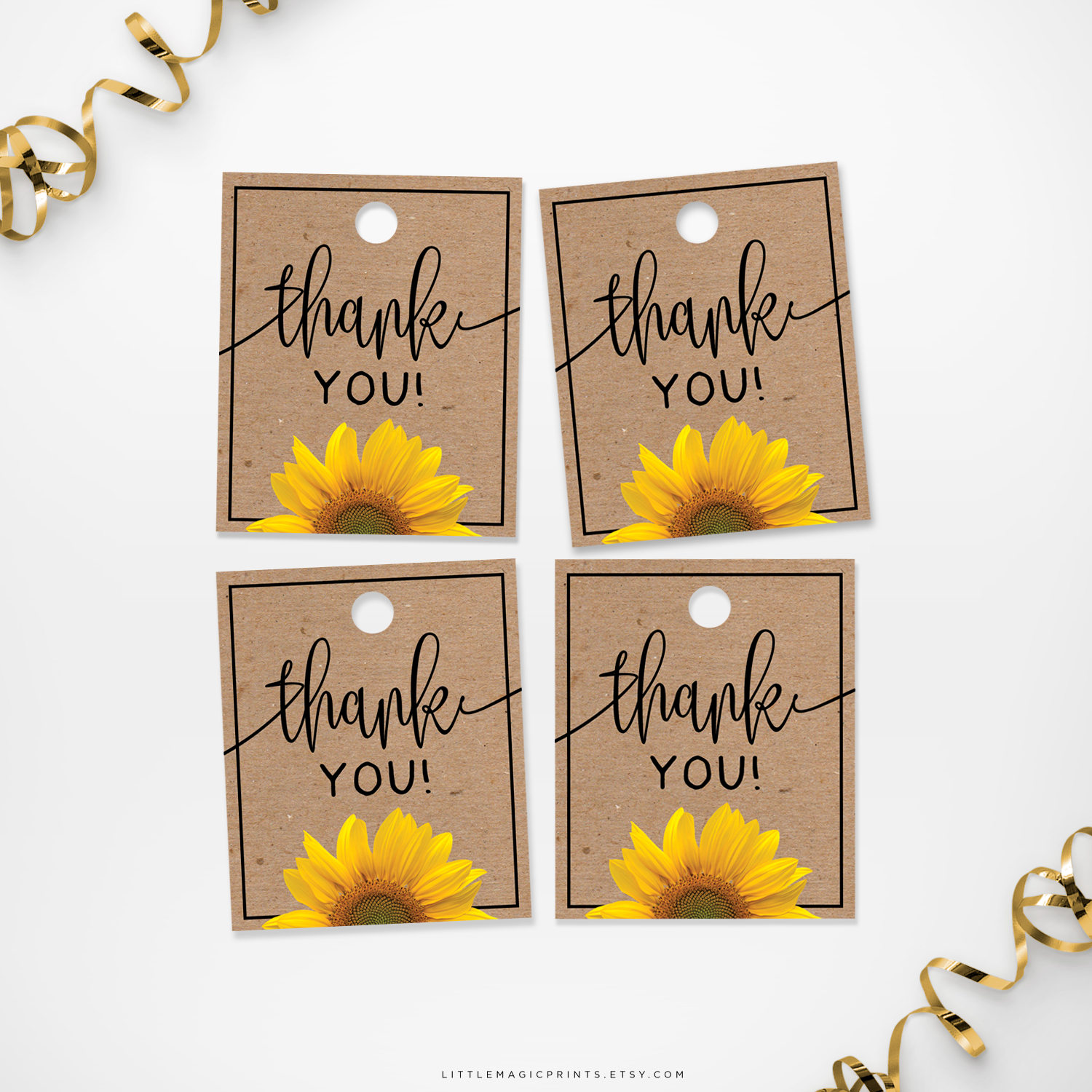 Rousing Printable Sunflower Thank You Tags Printable Sunflower Thank You Tags Little Magic Prints Thank You Tags Pdf Thank You Tags Teachers inspiration Thank You Tags