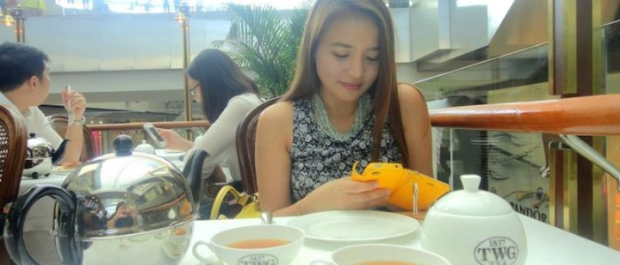 TEA TIME IN TWG
