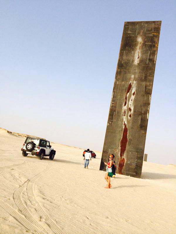 Richard Serra Art installations in the dessert
