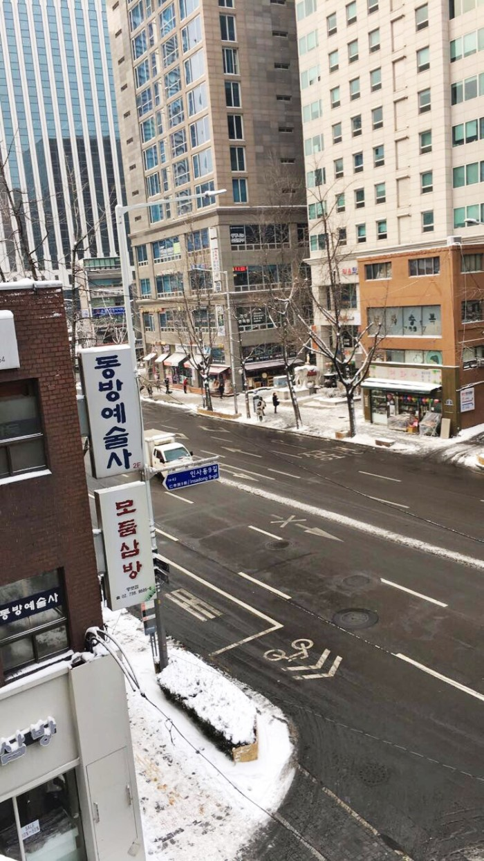 Snow in Korea