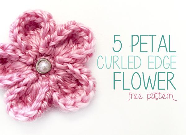 5 Petal Curled Edge Flower