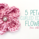 5 Petal Curled Edge Flower