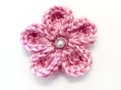 Crochet Five Petal Flower Free Pattern Dancox For